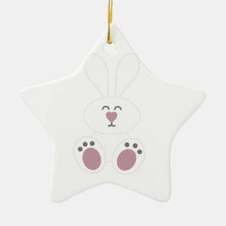 Cute White Bunny Rabbit Christmas Tree Ornament