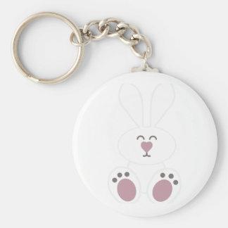 Cute White Bunny Rabbit Keychains