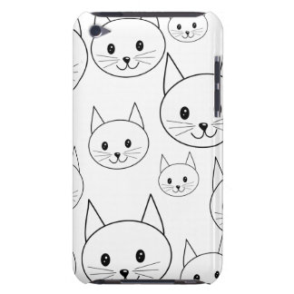 Cute White Cats Pern. Barely There iPod Cases