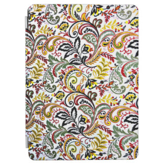 Cute white classic colorful floral design iPad air cover