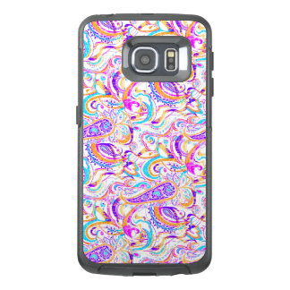 Cute white colorful paisley design