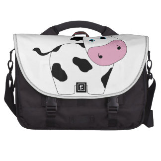 Cute White Cow Laptop Computer Bag