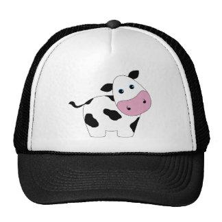 Cute White Cow Mesh Hat