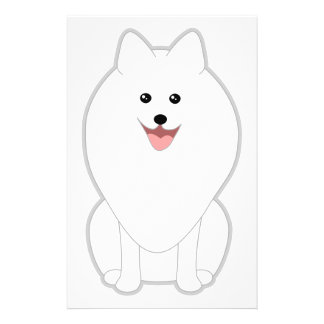 Cute White Dog Spitz or Pomeranian Personalized Flyer