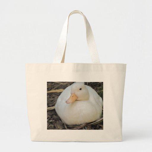 Cute White Duck Tote Bag