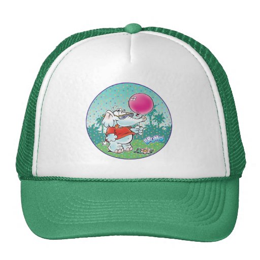 cute white elephant with balloon trucker hats