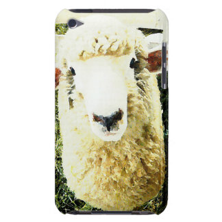 Cute White Fluffy Sheep iPod Case-Mate Cases