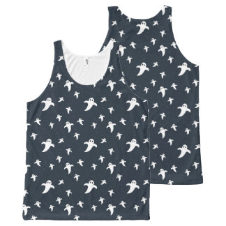 Cute white ghosts All-Over print singlet