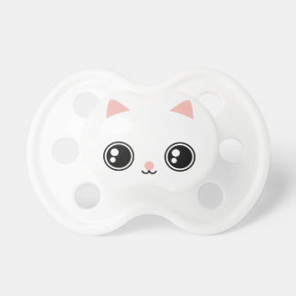 Cute White Kawaii Kitty With Big Black Shiny Eyes Dummy