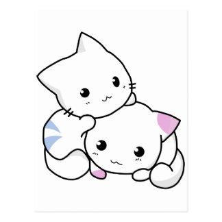 Cute White Kitties Postcard