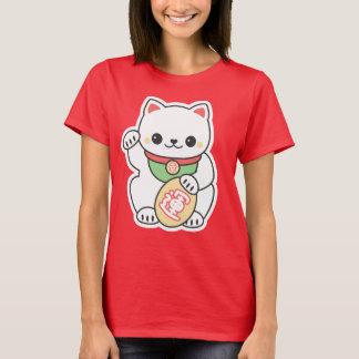 Cute White Maneki Neko T-Shirt