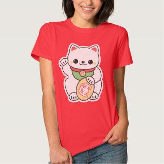 Cute White Maneki Neko Tshirt