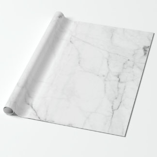 Cute White Marble Wrapping Paper, marble stone Wrapping Paper
