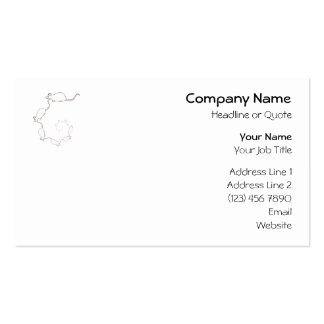 Cute White Mouse Design. Spiral of Mice. Business Cards
