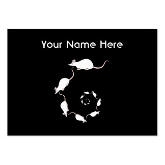 Cute White Mouse Design. Spiral of Mice. Pack Of Chubby Business Cards
