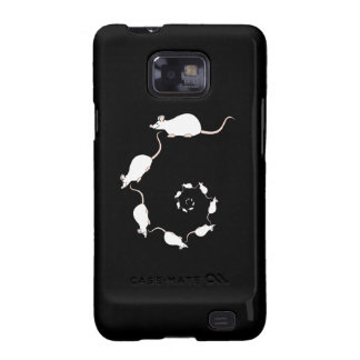 Cute White Mouse Design. Spiral of Mice. Samsung Galaxy Cover