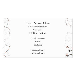 Cute White Mouse Pattern. Mice on White. Pack Of Standard Business Cards
