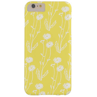 Cute White on Yellow Wildflowers Barely There iPhone 6 Plus Case