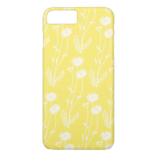 Cute White on Yellow Wildflowers iPhone 7 Plus Case