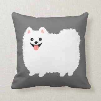 Cute White Pomeranian Cushion