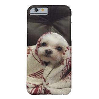 """Cute White Puppy"" wrapped in blanket Barely There iPhone 6 Case"