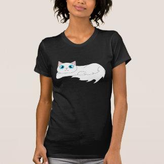Cute White Ragdoll Cat Cartoon T-Shirt
