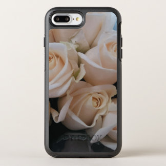 Cute White Roses Print Phone Cases