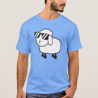 Cute White Sheep Cartoon T-Shirt