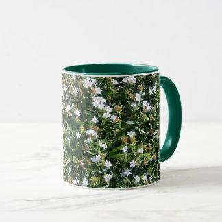 Cute White Wildflowers on Green Grass Nature Mug