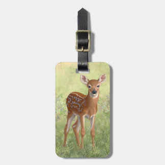 Cute Whitetail Fawn Luggage Tag
