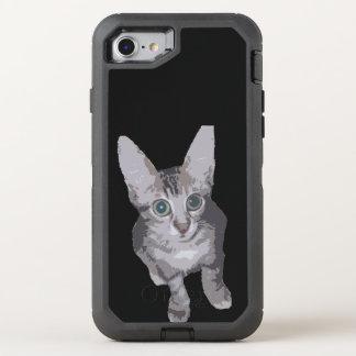 Cute Wide Eye Kitten OtterBox Defender iPhone 8/7 Case