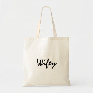Cute wifey tote for bride honeymoon or wedding