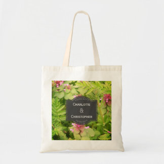Cute Wild Flower Personalized Wedding Tote Bag