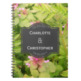 Cute Wild Flower Wedding Note Book