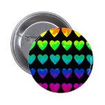 Cute wild rainbow hearts on black