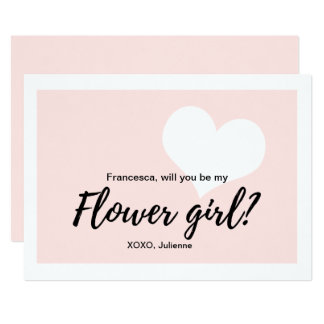 Cute Will you be my flower girl calligraphy  style Card