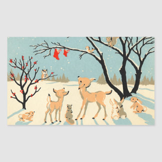 Cute Winter Friends Stickers