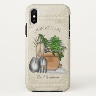 Cute Winter Gardening iPhone X Case