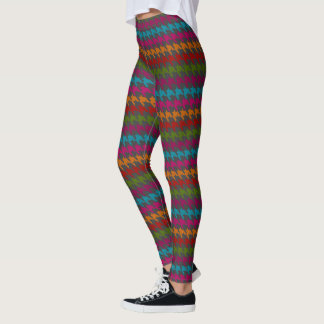 Cute Winter Houndstooth Pattern LEGGINGS