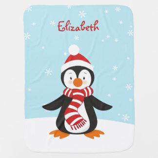 Cute Winter Penguin Baby Blanket