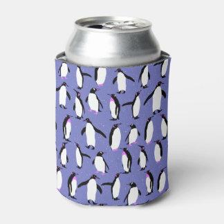 Cute winter penguin pattern can cooler