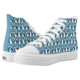 Cute Winter Penguins Design High Tops