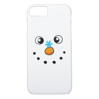 cute winter snowman and snowflake iPhone 8/7 case