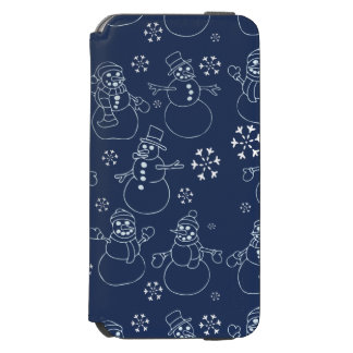 Cute winter snowmen incipio watson™ iPhone 6 wallet case