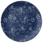 Cute winter snowmen plate