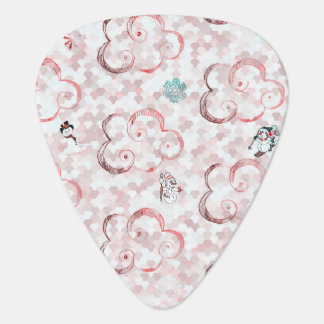 Cute Winter X-mas Pattern C Plectrum