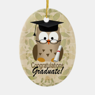 Cute Wise Owl Graduate Ornaments