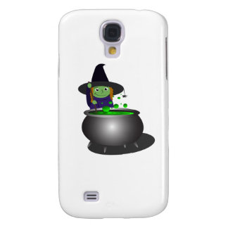 Cute Witch at Cauldron Galaxy S4 Cover