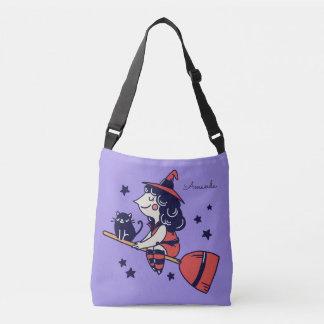 Cute Witch custom name Halloween bags
