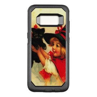 Cute Witch Girl Black Cat OtterBox Commuter Samsung Galaxy S8 Case